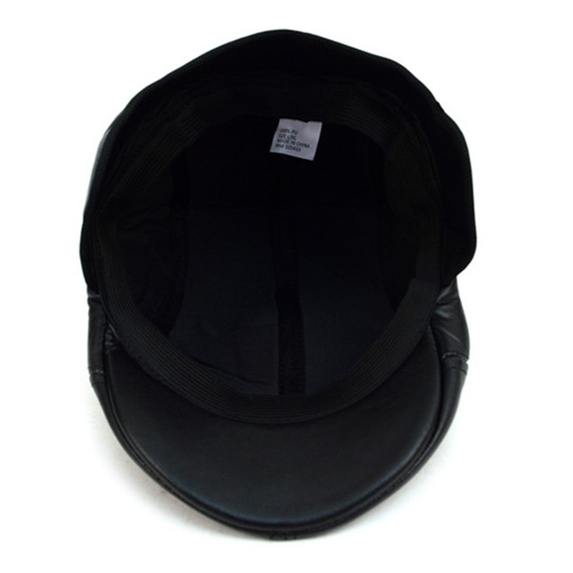 Fall/Winter Traditional Leather Ivy Hat with Ear Flaps