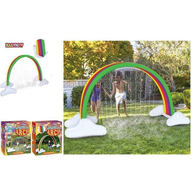 Splash Buddies Kids Rainbow Arch Outdoor Water Sprinkler