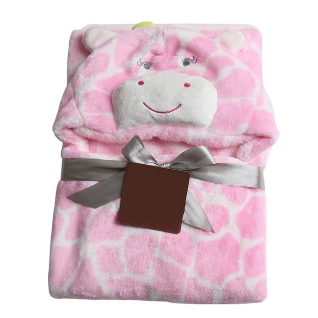 Ultra Soft Plush Baby Blanket Bath Towel with Hood