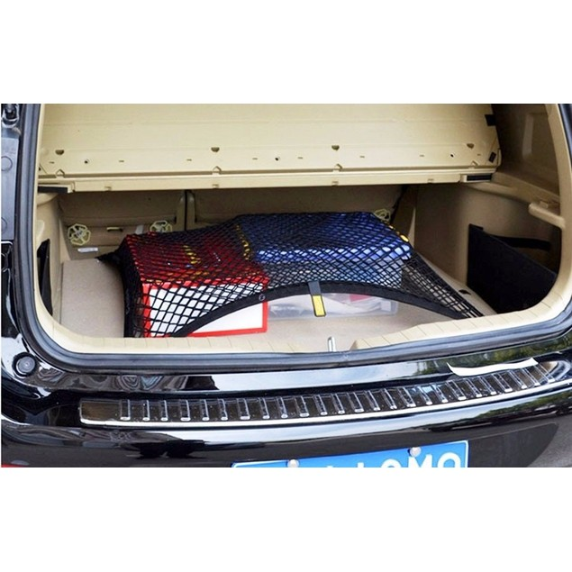 Zone Tech Vehicle Trunk Mesh Cargo Net Storage Organizer Bag