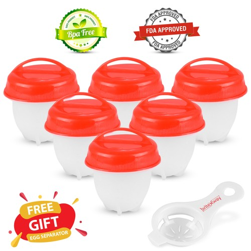 6-Pack BriteNway Silicone Egg Cooker - As Seen on TV