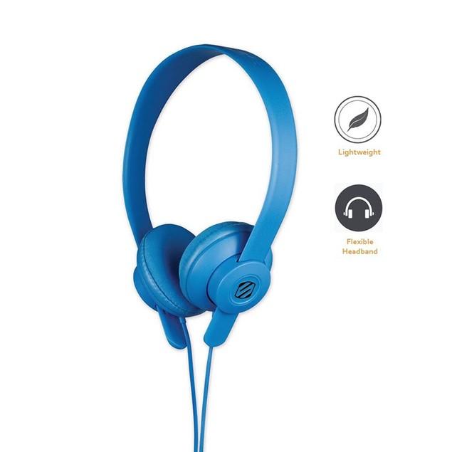 Scosche On-Ear- Over-Ear Headphones-Lightweight -LobeDOPE SHP400- Blue