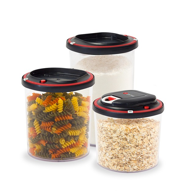 Vestia Automatic Vacuum Sealing Food Storage Container System (Set of 3)