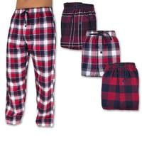 2-Pack Andrew Scott Men's Flannel Fleece Pajama Lounge Pants (S-3X)