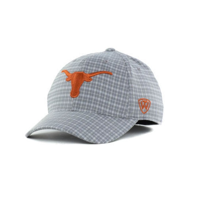 "Texas Longhorns NCAA TOW ""Plaidee"" Stretch Fitted Hat"