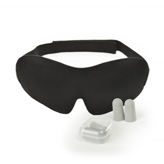 Living Pure Luxury Sleep Mask with Ear Plugs