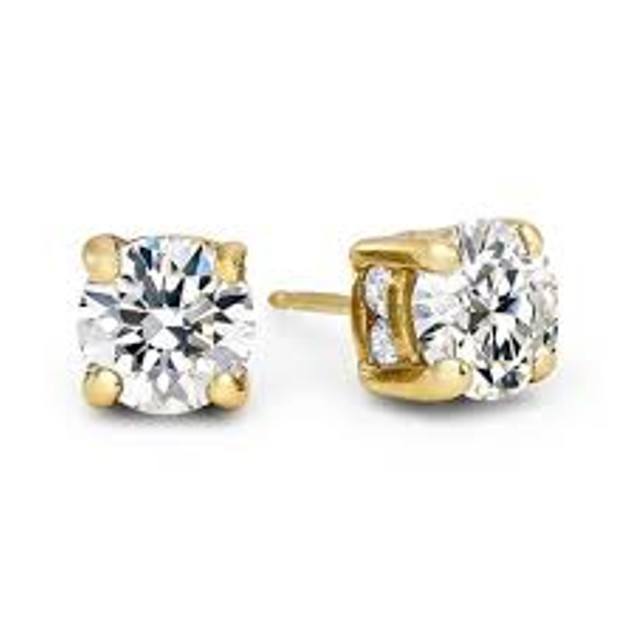 18kt Yellow Gold Plated Stud Earrings