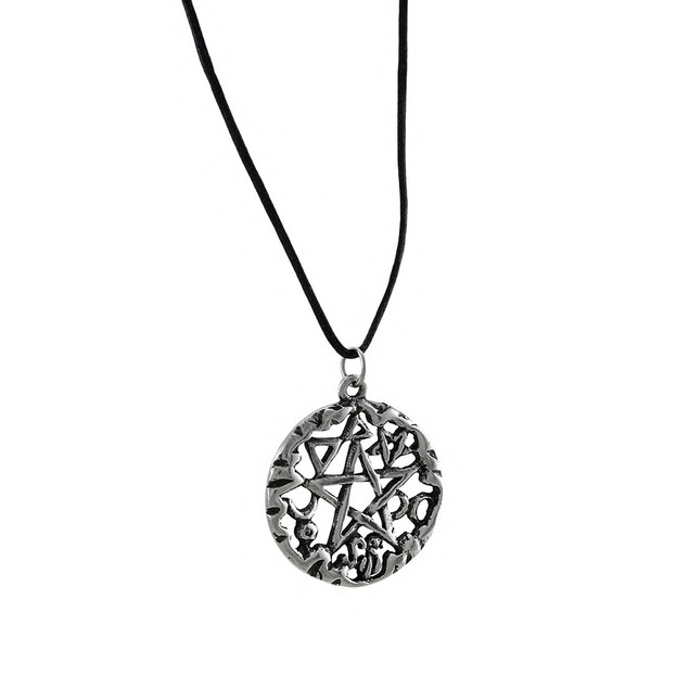 Silver Finished Magical Symbol Pentacle Pendant W/ Womens Pendant Necklaces