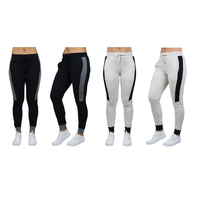 2-Pack Women's Slim-Fit French Terry Joggers With Contrast Trim (S-2XL)