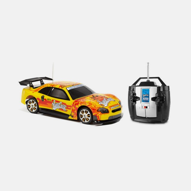 West Coast Customs Yellow Tuner Style 1:18 RC Car