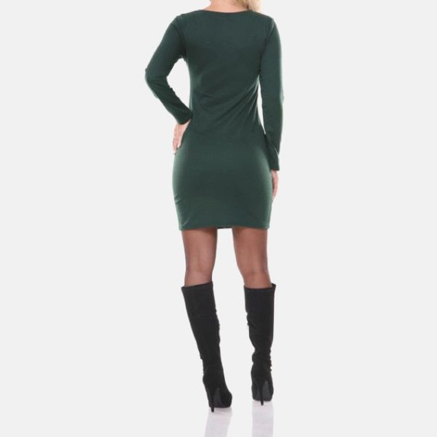 White Mark Veronica Olive Edgy Panel Dress