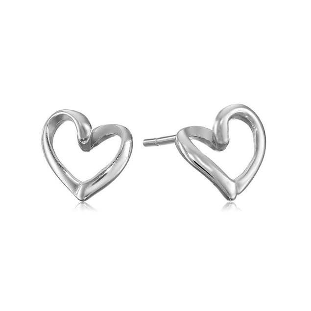 2-Pack: Heart Stud Earrings, 2 Styles
