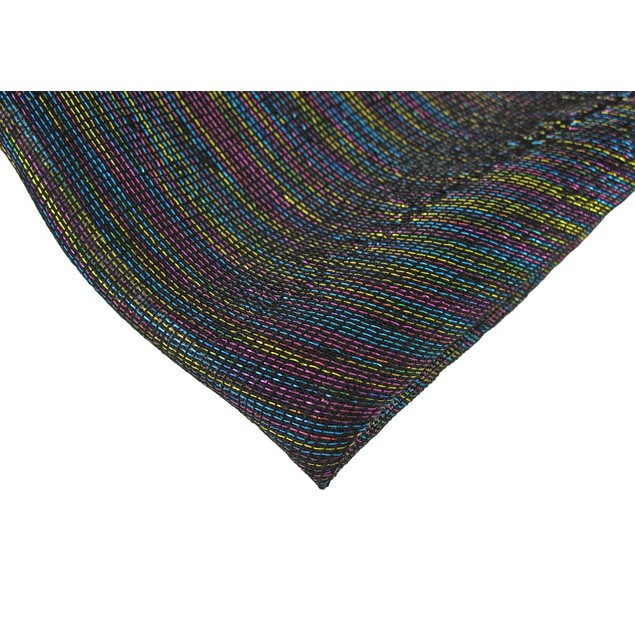 Sheer Black Shawl With Multicolored Metallic Womens Wraps And Shawls