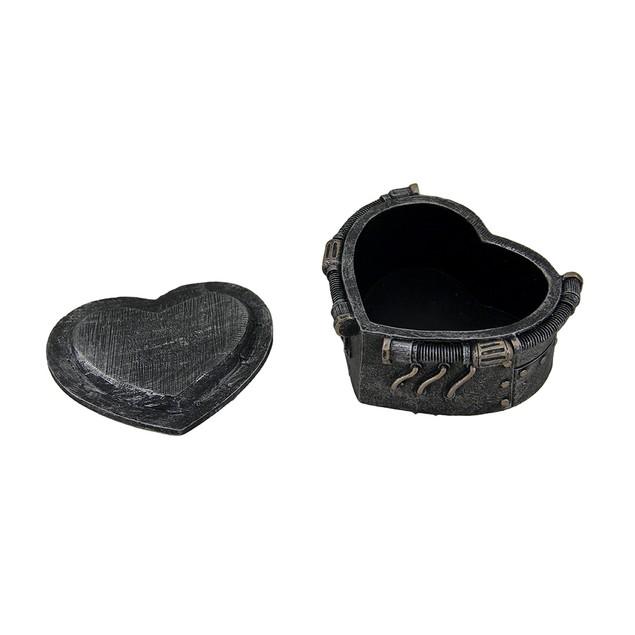 Metallic Heart Shaped Steampunk Trinket Box Decorative Boxes