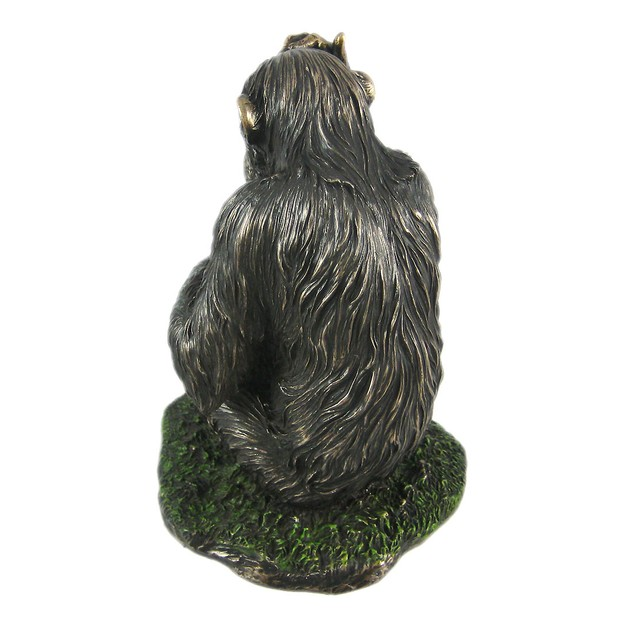 Mother And Child Chimpanzee Statue Baby Chimp Ape Statues