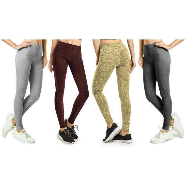 2-Pack Women's Ultra-Soft Fleece-Lined Fashion Leggings