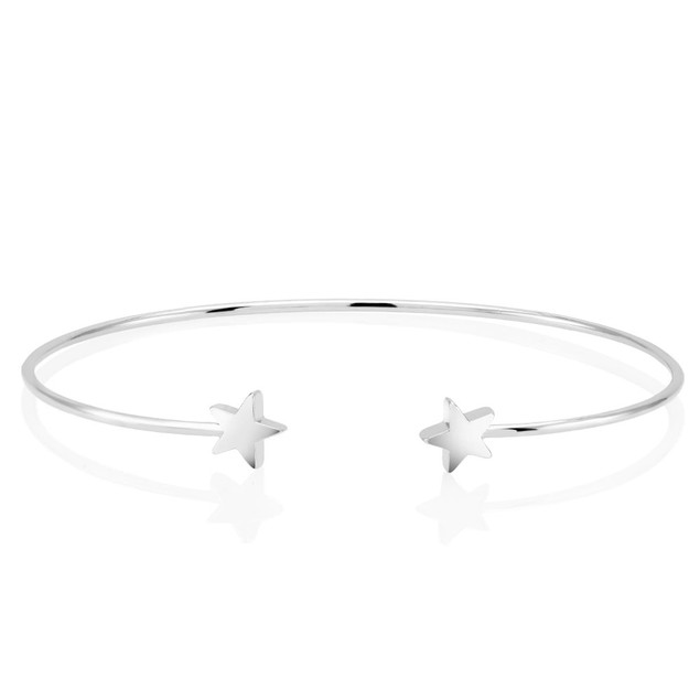 Double Sided Star Bangle Bracelet