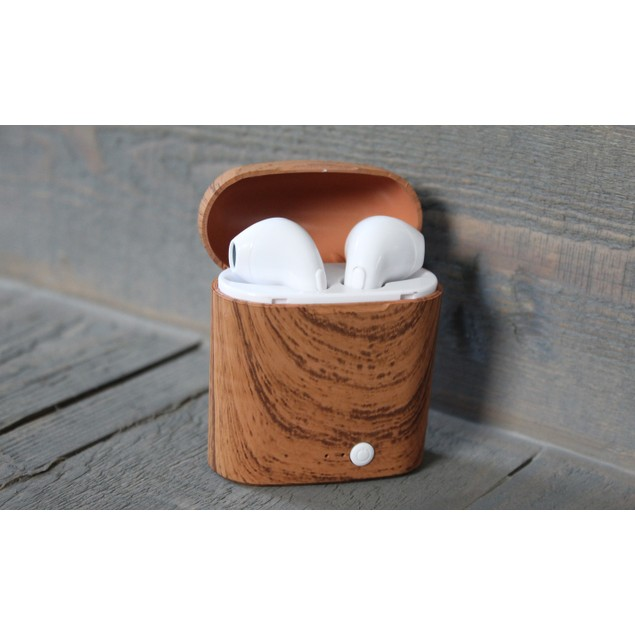 Printed Charging Case with Wireless Earbuds