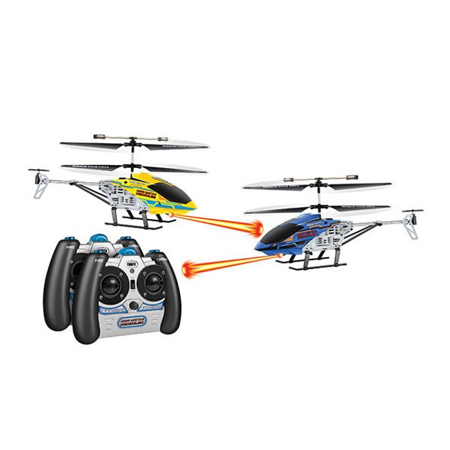2-Pack Nano Battle Hercules Laser Tag 3.5CH IR RC Helicopters