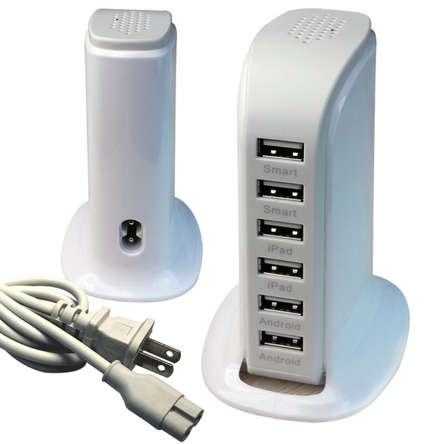 40 Watt 6-Port USB Power Charging Station