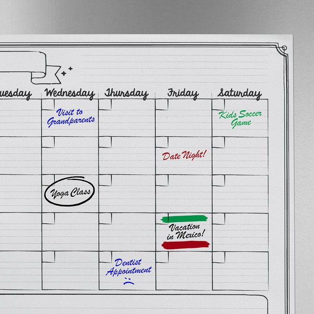 NevoProd Premium Magnetic Weekly Dry Erase Board with 3 Markers