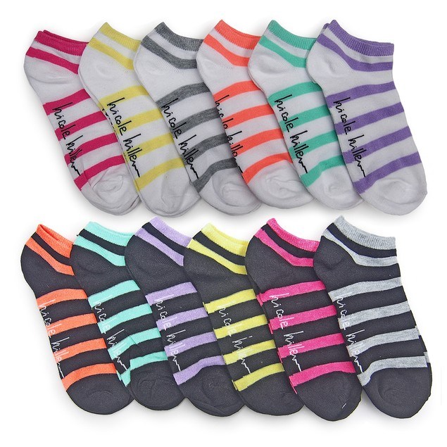 24 Pairs Nicole Miller Women's No Show Socks