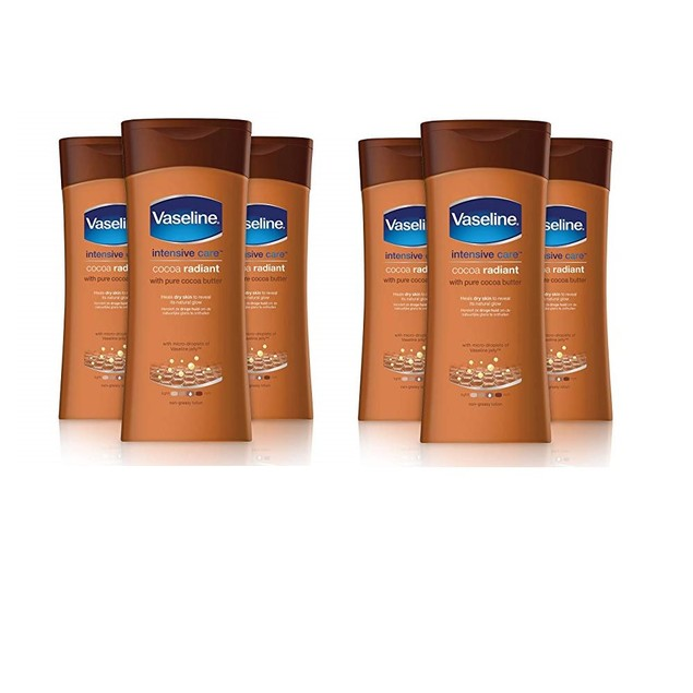 6-Pack Vaseline Essential Moisture Cocoa Radiant Lotion 200ml
