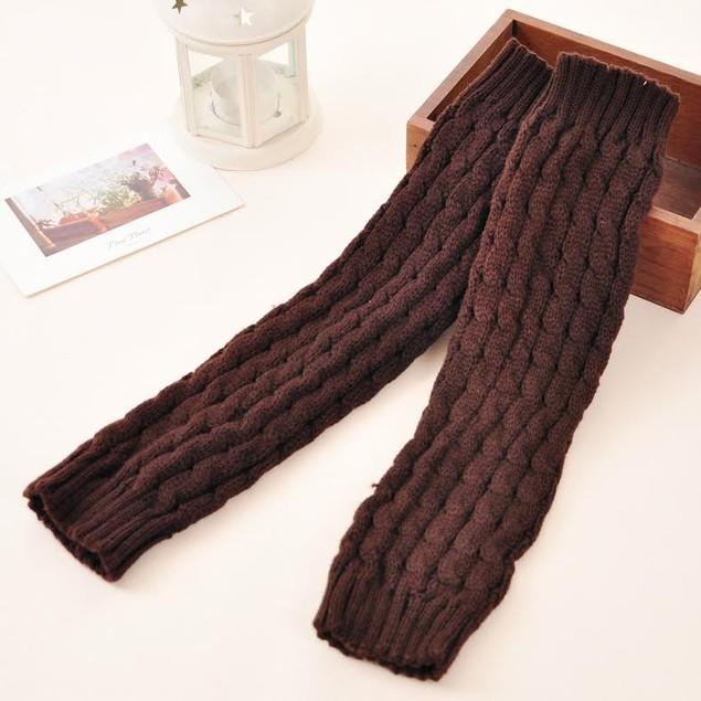 2-Pairs Crochet Leg Warmers- 6 Colors