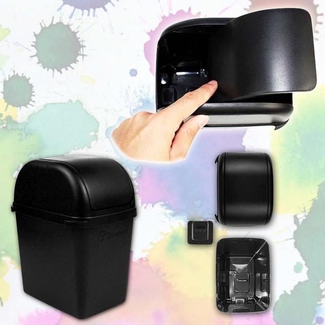 Zone Tech 2x Mini Car Garbage Trash Litter Wastebasket Can Latch Grip