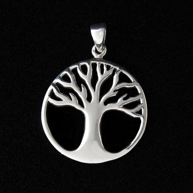 Cutout Tree Of Life Sterling Silver Pendant Womens Pendants