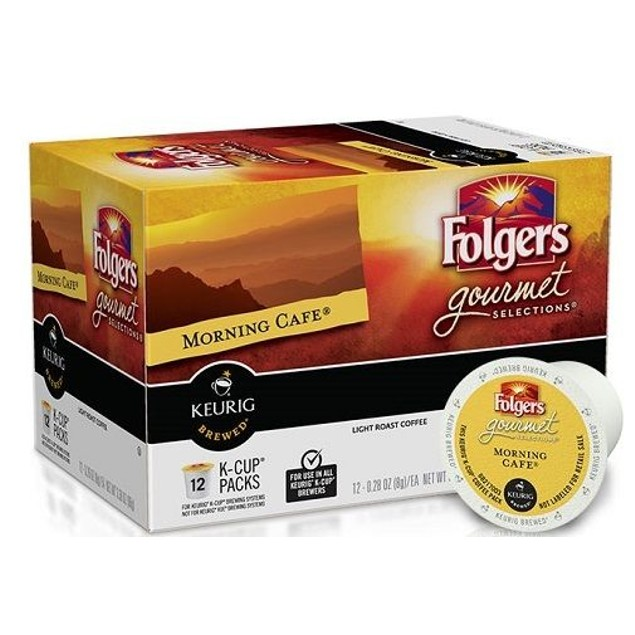 Folgers Morning Cafe Coffee Keurig K-Cups