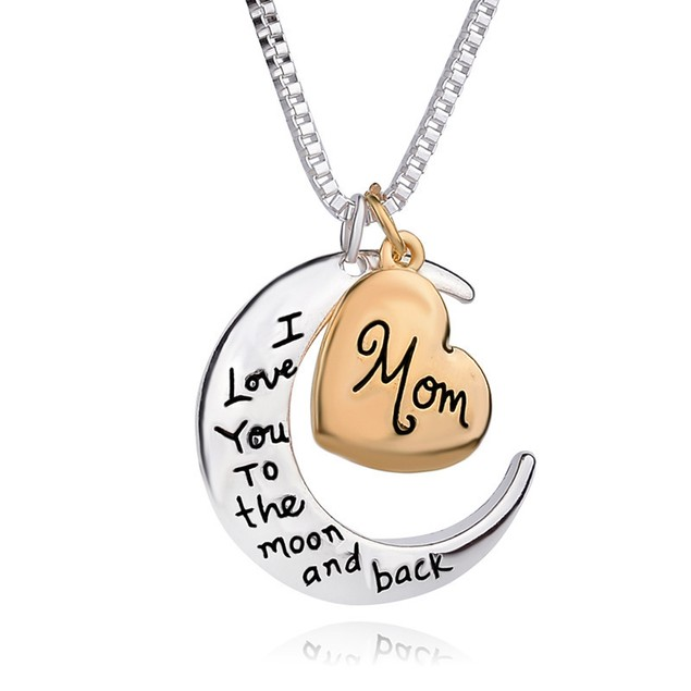 Gold Plated Love You To the Moon and Back Necklace