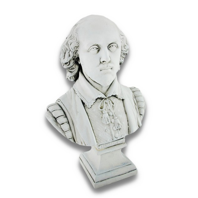 Ceramic William Shakespeare Bust Statue Bard Bust Sculptures