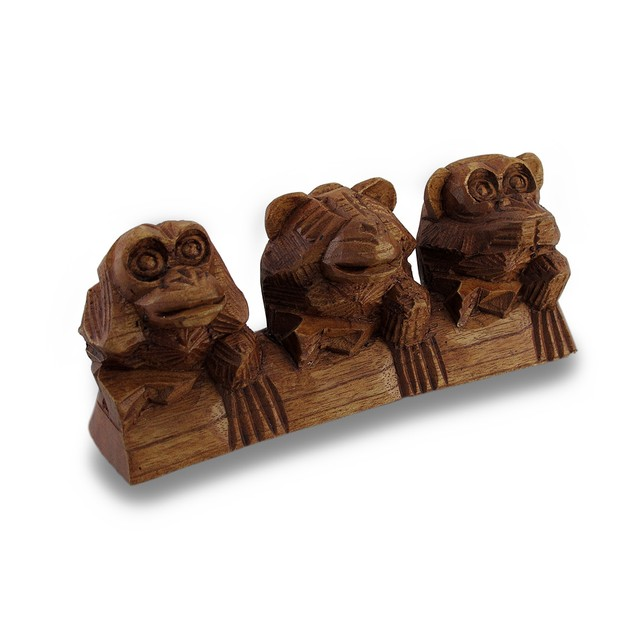 See, Hear, Speak No Evil Three Sitting Monkeys Statues