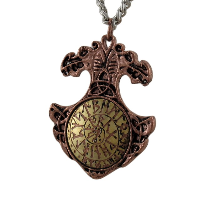 Viking Bind Rune Charm Necklace Talisman For Attracting Success