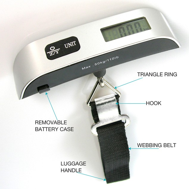 Portable Digital Luggage Scale with LCD Display