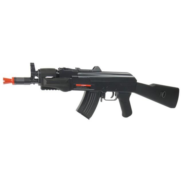 AK-47 Kalashnikov Spetsnaz FPS-250 Spring Airsoft Rifle With BB Shell Casings