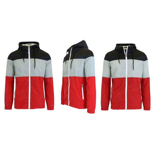 Men's Hooded Lightweight Windbreaker Jackets
