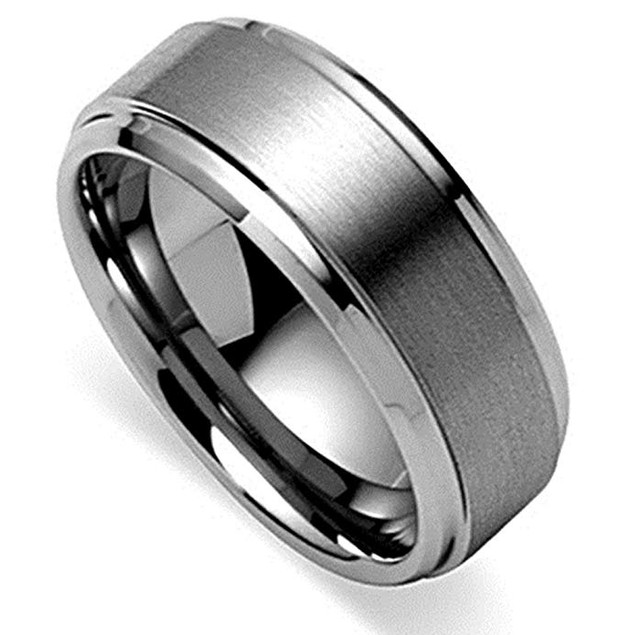 Men's Tungsten Carbide Ring w/ Gift Pouch - 6 Styles