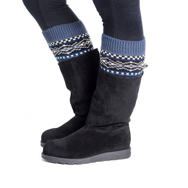 MUK LUKS ® Women's 2 Pair Pack Reversible Snowflake Boot Toppers