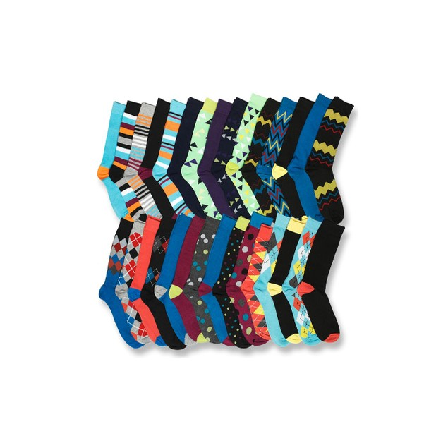 Mystery Deal: 30-Pack John Weitz Men's Dress Socks