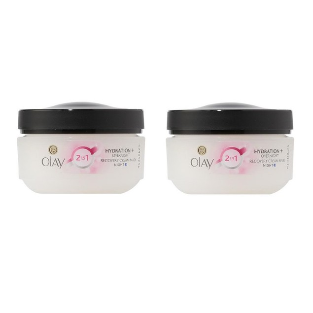2-Pack Olay Complete 2 In 1 Hydration + Overnight Recovery Cream Mask