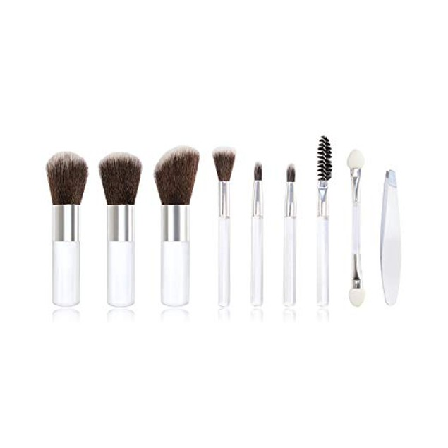 10-Pc Micro Beauty Pocket Brush Set - Travel Friendly