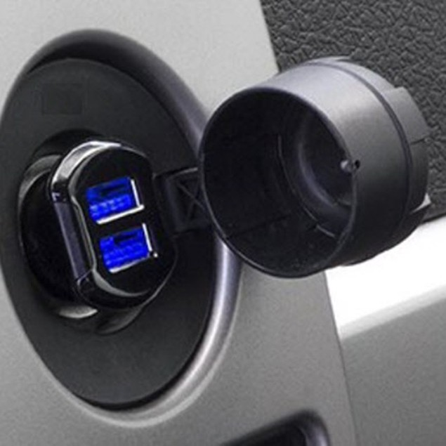 Scosche ReVolt 15W Dual-Port illuminated USB Universal Fast Car Charger