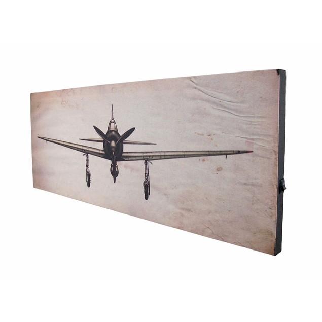 Vintage Look Airplane Led Lighted Canvas Print Prints