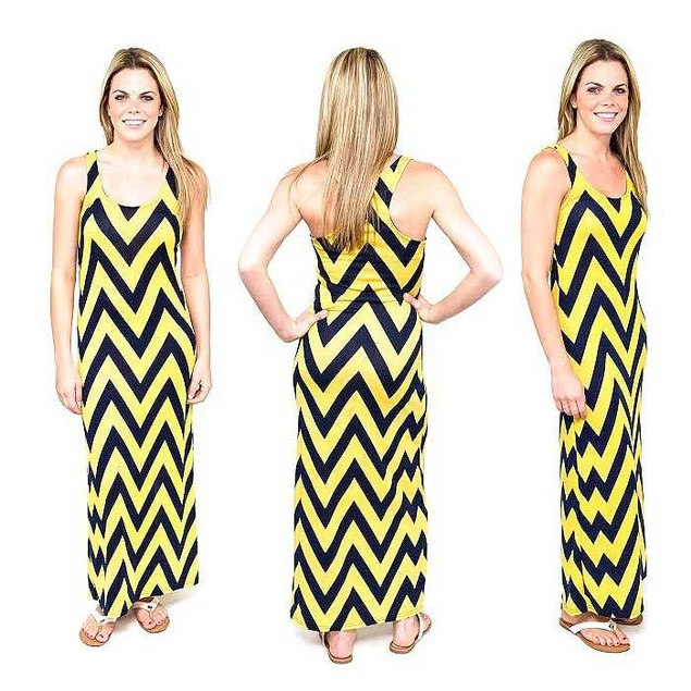 Chevron Racerback Maxi Dress- 6 Colors Available