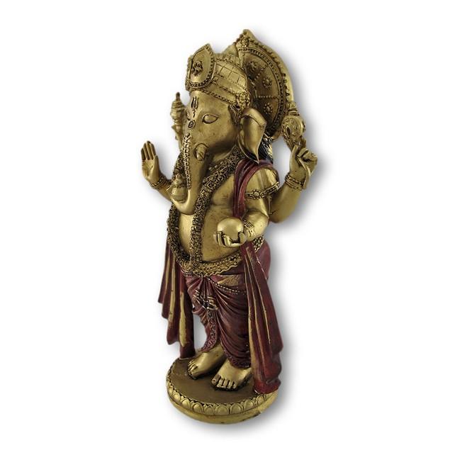 Golden Ganesha Standing Hindu God Statue Statues