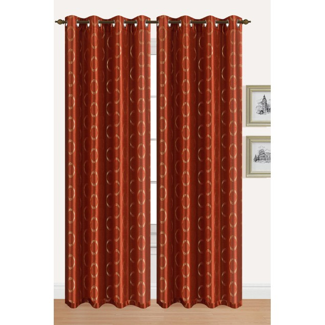 2-Piece Set: Sonia Metallic Grommet Curtain Panels