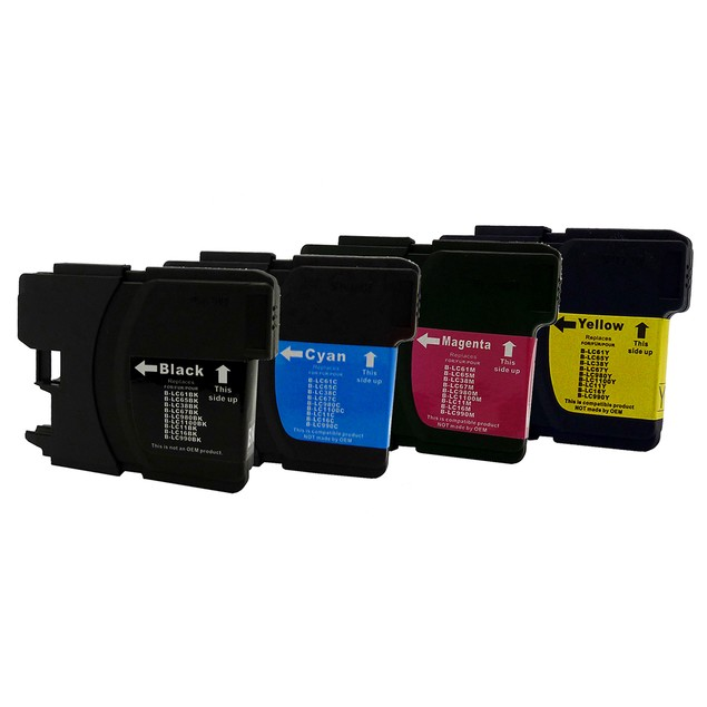 Brother LC61 Compatible Ink 4-Pack