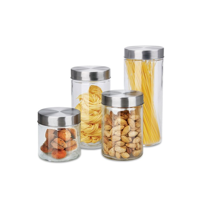 8 Piece Air Tight round Canister Set